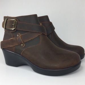 Alegria Eva Distressed Western Style Ankle Boot